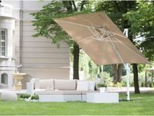 Parasoll 250 cm sandbeige med stång i vit MONZA