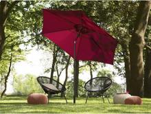 Beliani Parasoll 270 cm burgundy VARESE