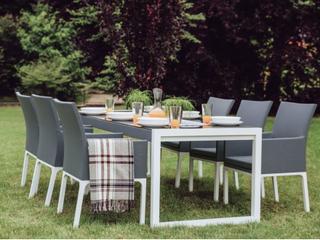 Trädgårdsstol aluminium grå BACOLI