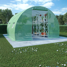 vidaXL Växthus med stålgrund 9m² 300x300x200 cm