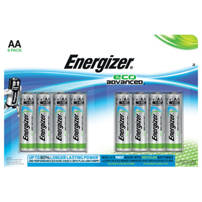 Energizer Eco Advanced 8st AA/LR6 batterier