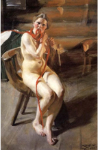 Steve Art Gallery Unknow work 104,Anders Zorn,60x40cm