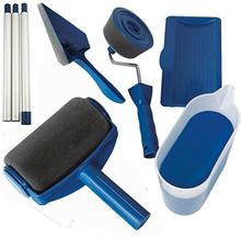 8Pcs/set Paint Runner Pro Roller Brush Tools Set Flocked Edger Office Room Wall Painting Roller Paint Brush Set