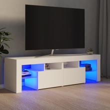 TV-benk med LED-lys 140x35x40 cm - hvit