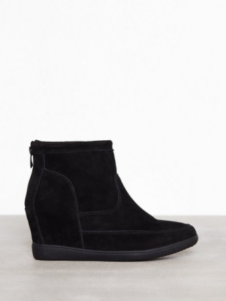 Wedge - Svart Duffy Leather Boot