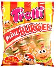 Trolli - Mini Burger żelki o smaku owocowym w kształcie ham...