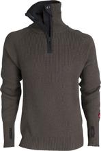 Ulvang Rav sweater w/zip Tea Green/Charcoal Melange