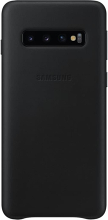 Samsung Galaxy S10 Leather Back Cover Black