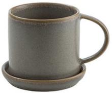 Kaffekopp med fat Ø 7,5 cm