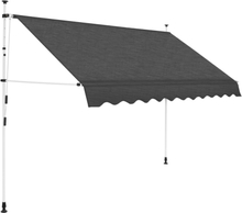 vidaXL foldemarkise manuel betjening 300 cm antracitgrå