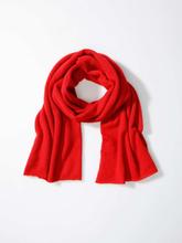 Sjaal 100% kasjmier Van Richard Grand rood