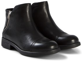 Geox Junior Agata Kängor Black Leather 35 (UK 2.5)