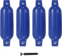 vidaXL Båtfender 4 st blå 41x11,5 cm PVC