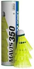 Yonex Mavis 350 10 rör (60 bollar) Gul boll - Snabb (Röd rand)