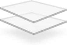 vidaXL Plexiglasskivor 2 st 40x60 cm 15 mm