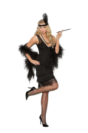 Elegant Moments Womens klassisk 1920-tal Gatsby stängnät Halloween ...