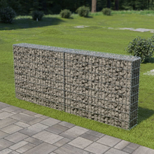 vidaXL Gabionmur i galvaniserat stål 200x20x85 cm