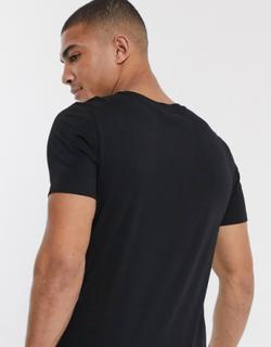 Jack & Jones essentials script logo t-shirt-Black