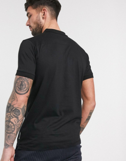 French Connection Essentials polo in black