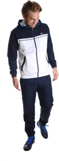 Lacoste Sport Hooded Tracksuit Dark blue/White S