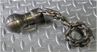 Chain Penis Ring with Anal Plug - Oxballs