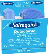 Salvequick 6754CAP Blue Detectable Plåster 6x30st