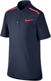 Nike Performance Polo Boy Navy Blue/Pink L (147-15