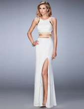 White Separate Golden Edge Dress