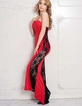 Red Long Strapless Dress