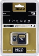 4GB MicroSDHC Intenso + adapter