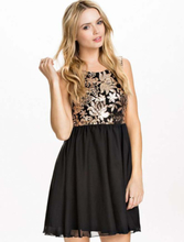 R70198P Flower Sequin Dress