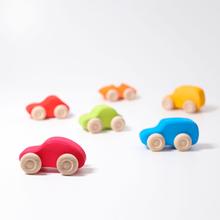 Bilar i ekologiskt trä (6 bilar, Grimms)