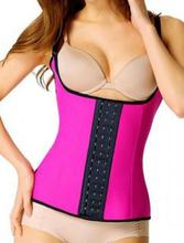 Rosy 4 Steel Boned Latex Waist Trainer Vest