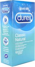 Classic Durex Natural Kondomer 12st