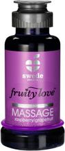 Swede - Fruity Love Warming Massage Rasp/Grapefruit 100 ml