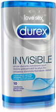 Invisible Durex Kondomer 10 St