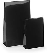 Lackpapier-Beutel mit Haftklebeverschluss schwarz 100 x 40 x 157 mm