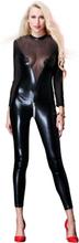 Black Leather Zipper Jumpsuit