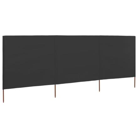 vidaXL Vindskydd 3 paneler tyg 400x120 cm antracit