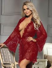 Red Lace Sleepwear Gown