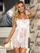 Eyelash Trim Lace Babydoll