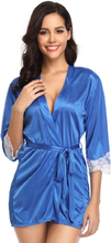 Silky Robe With Waist Belt