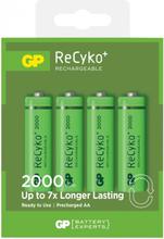 GP Batteries GP ReCyko R6/AA Laddbara batterier 4-pack