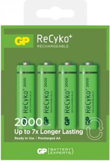 GP Batteries GP ReCyko R6/AA Ladbare batterier 4-pakning