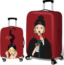 Kühle Mädchen elastische Gepäck Abdeckung Durable Suitcase Protector