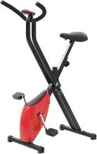 vidaXL Kuntopyörä X Bike hihnavastus punainen