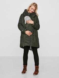 MAMA.LICIOUS 3 In 1 Padded Winter Maternity Jacket Kvinna Grön