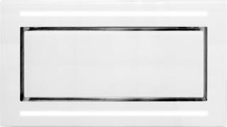 Premium line tak integrerad köksfläkt Swedluxury BETA vit glas