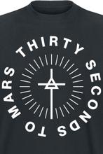 30 Seconds To Mars - Monolith Logo -T-skjorte - svart