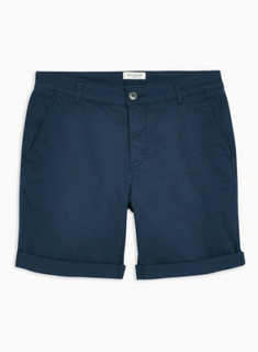 SELECTED HOMME Navy Organic Cotton Shorts